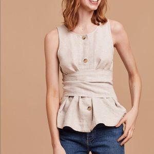 Wilfred aritzia Vachel blouse size small white